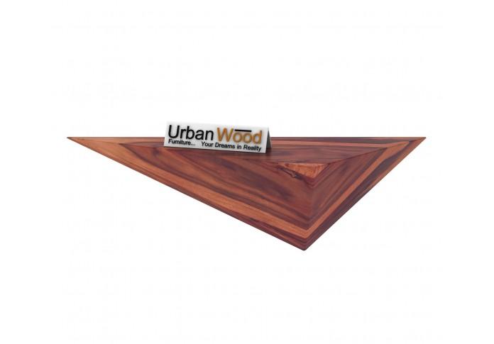 Elan Wooden Wall Shelves (Teak Finish)