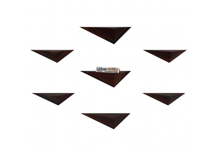 Elan Wooden Wall Shelves (Walnut Finish)