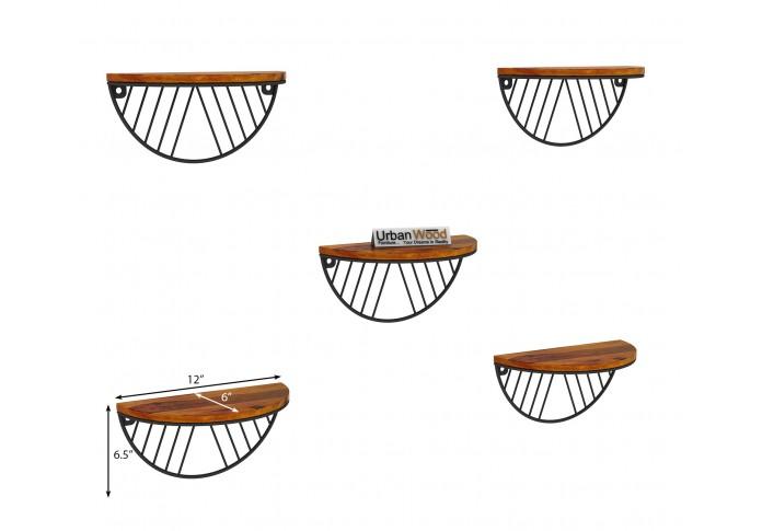 Mia Wooden Wall Shelves (Honey Finish)