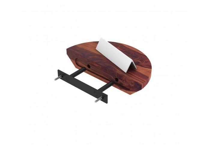 Pori Wooden Wall Shelves (Teak Finish)