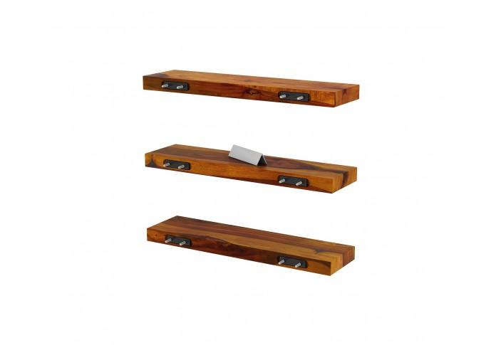 Rico Wooden Wall Shelves (Honey Finish)