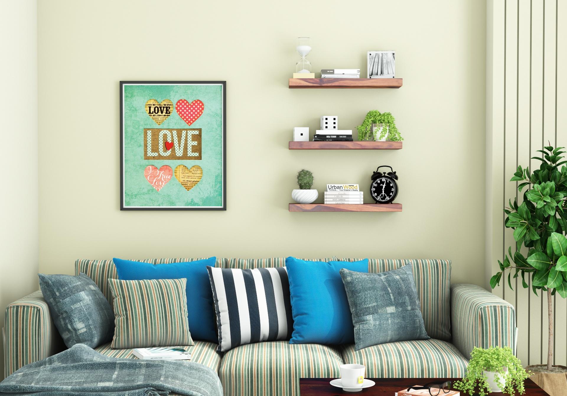 Rico Wooden Wall Shelves <small>(Teak Finish)</small>