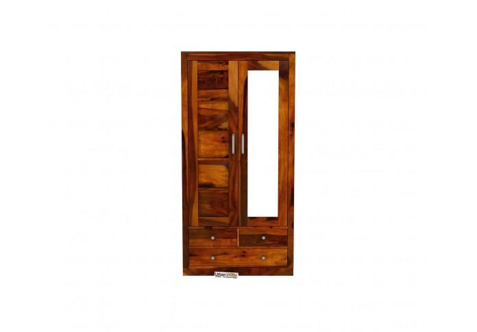 Atrion 2 Door Multi Utility Wardrobe <small>(Honey Finish)</small>