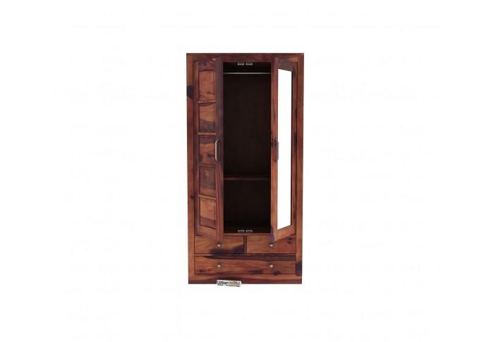 Atrion 2 Door Multi Utility Wardrobe ( Teak Finish )