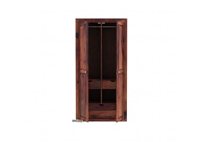 Newon 2 Door Multi Utility Wardrobe (Teak Finish)