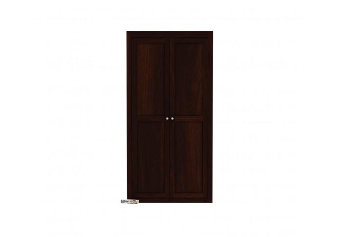 Newon 2 Door Multi Utility Wardrobe (Walnut Finish)