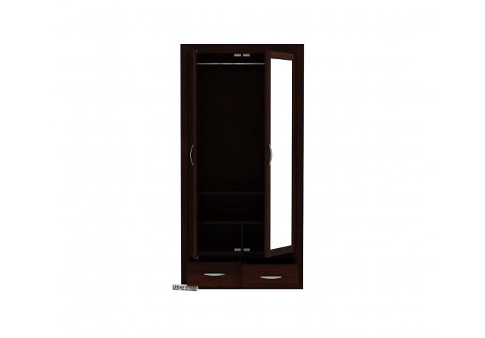 Trimax 2 Door Multi Utility Wardrobe with Mirror ( Walnut Finish )