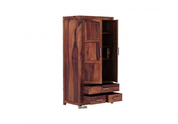 Robin 2 Door Multi Utility Wardrobe ( Teak Finish)