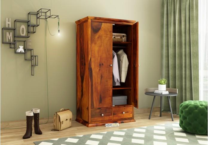 Adam 2 Door Multi Utility Wardrobe <small>(Honey Finish)</small>