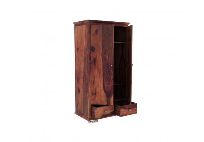 Adam 2 Door Multi Utility Wardrobe ( Teak Finish )