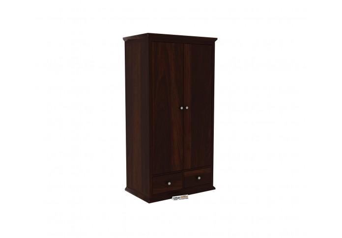 Adam 2 Door Multi Utility Wardrobe <small>( Walnut Finish )</small>