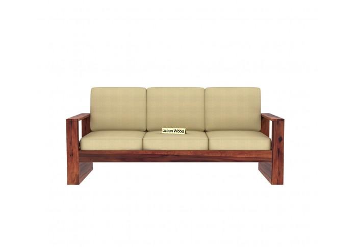 Fitbit Wooden Sofa Set (3+1+1)  Seater ( Teak Finish )