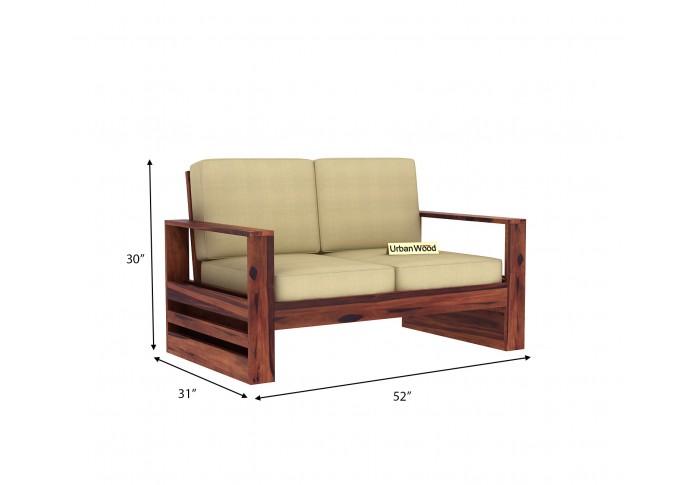 Fitbit Wooden Sofa Set <small>(3+1+1) ( Teak Finish )</small>