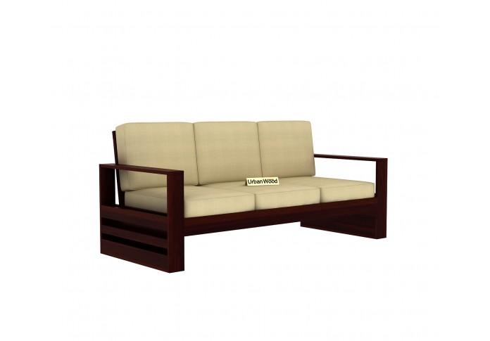 Fitbit Wooden Sofa Set <small>(3+1+1) ( Walnut Finish )</small>
