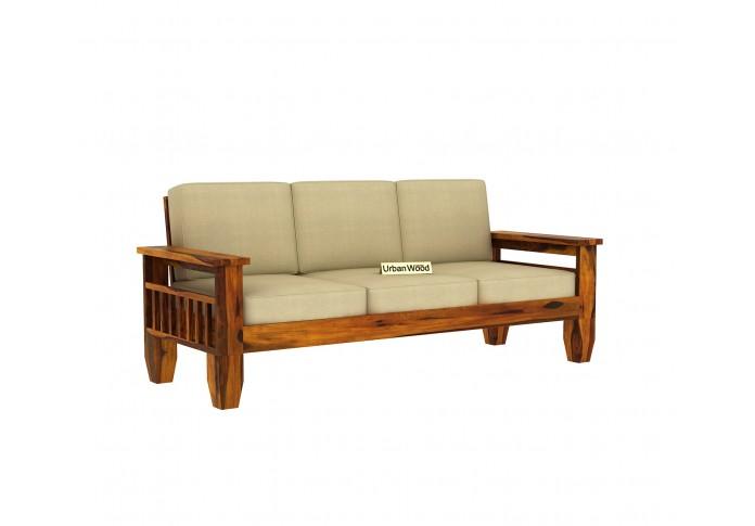 Freshlyn Wooden Sofa Set (3+2+1) Seater ( Honey Finish )