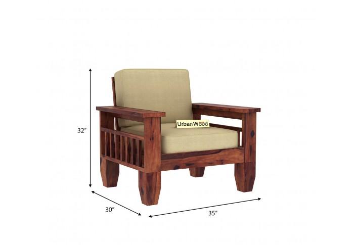 Freshlyn Wooden Sofa Set (3+2+1) Seater ( Teak Finish )