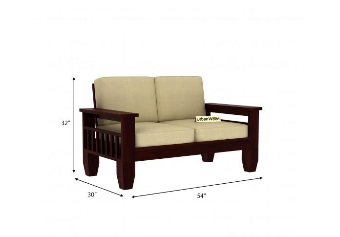 Freshlyn Wooden Sofa Set (3+2+1) Seater ( Walnut Finish )
