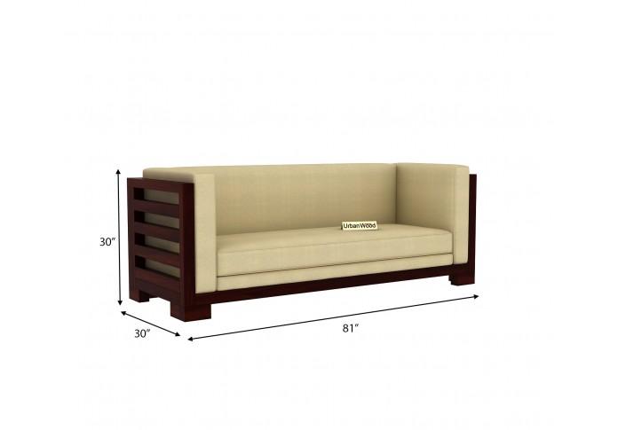 Modway Wooden Sofa Set (3+2+1) Seater ( Walnut Finish )